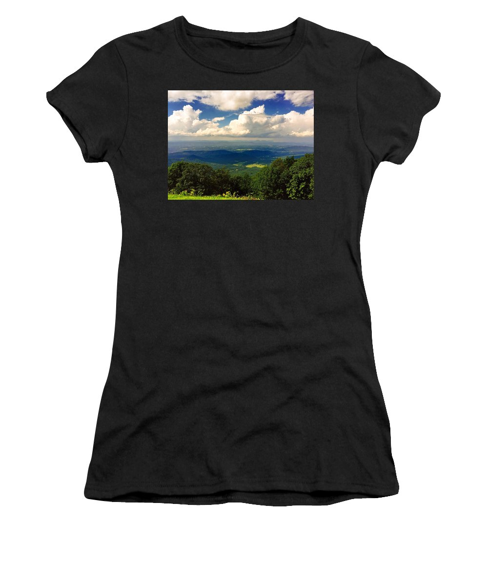 Landscape Women's T-Shirt (Athletic Fit) featuring the photograph Hidden Valley's by Janet Moses