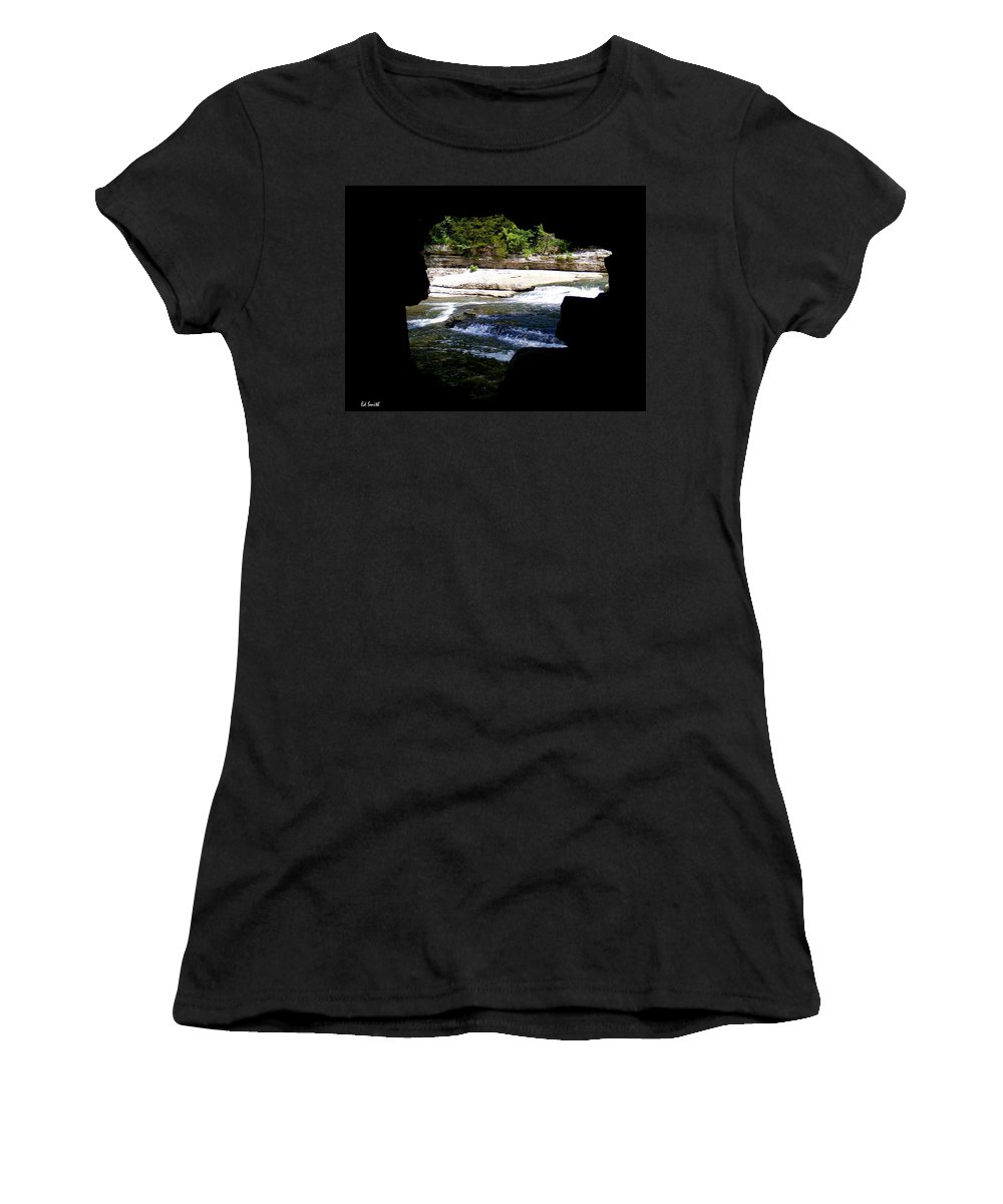 The Hide Away Women's T-Shirt (Athletic Fit) featuring the photograph Hide Away by Ed Smith