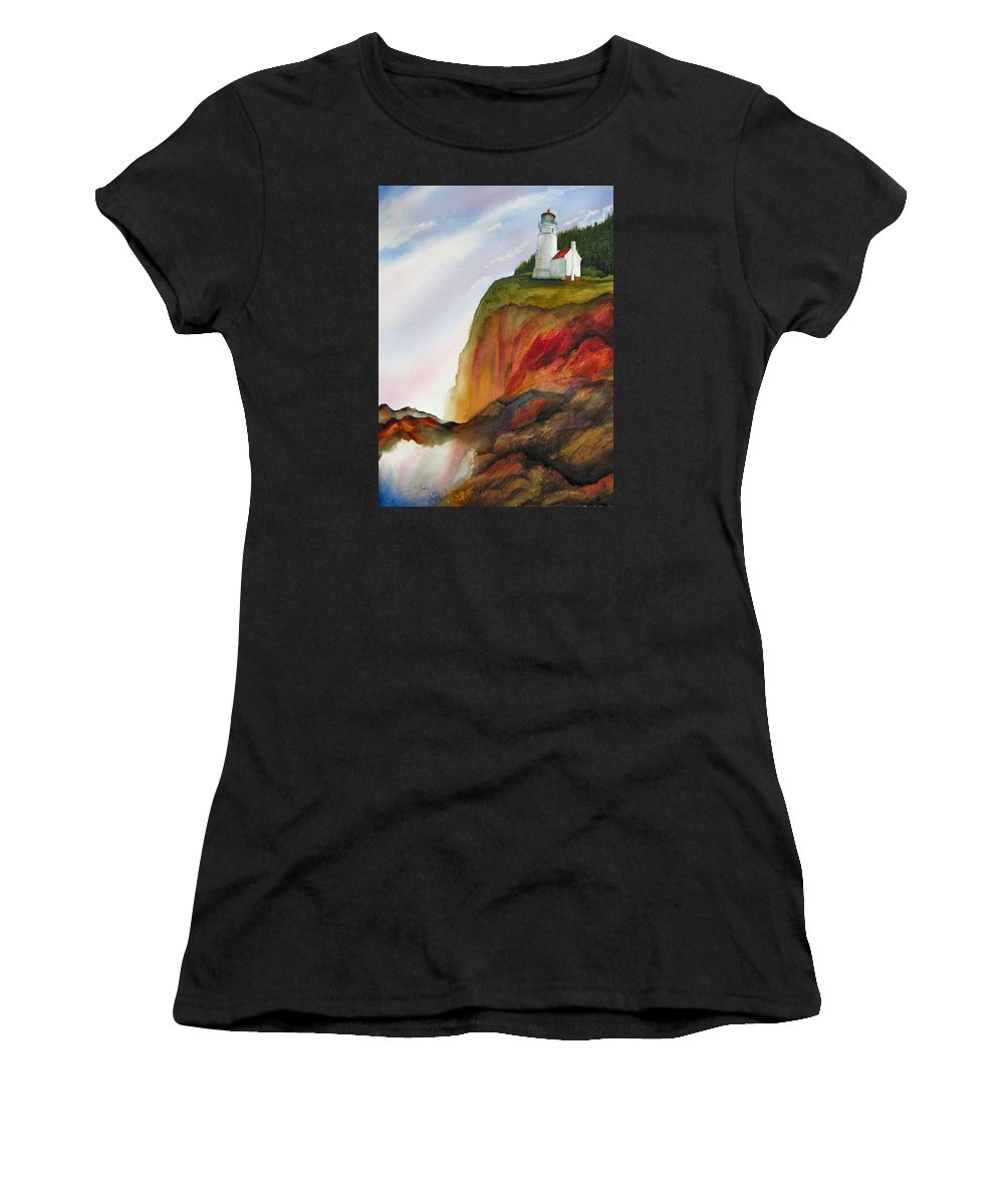 Coastal Women's T-Shirt featuring the painting High Ground by Karen Stark