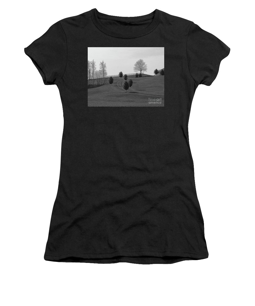 Country Women's T-Shirt featuring the photograph High On A Hill by Kathleen Struckle