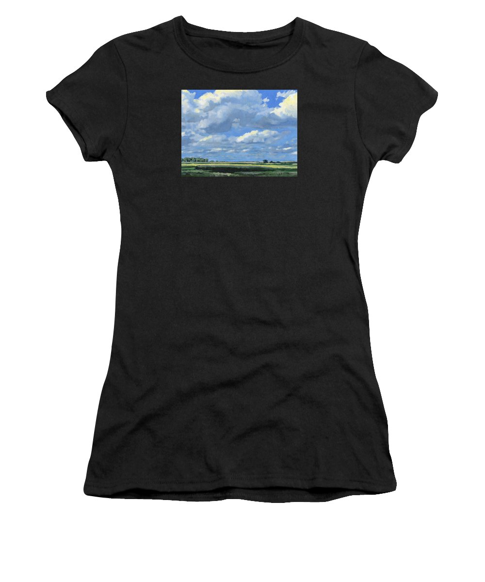 Landscape Women's T-Shirt (Athletic Fit) featuring the painting High Summer by Bruce Morrison