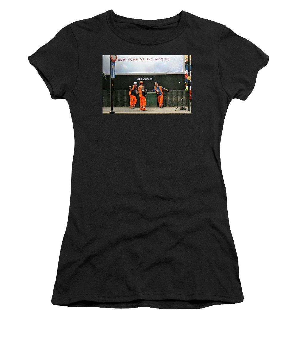 High Viz Women's T-Shirt (Athletic Fit) featuring the photograph High Viz by Steve Swindells