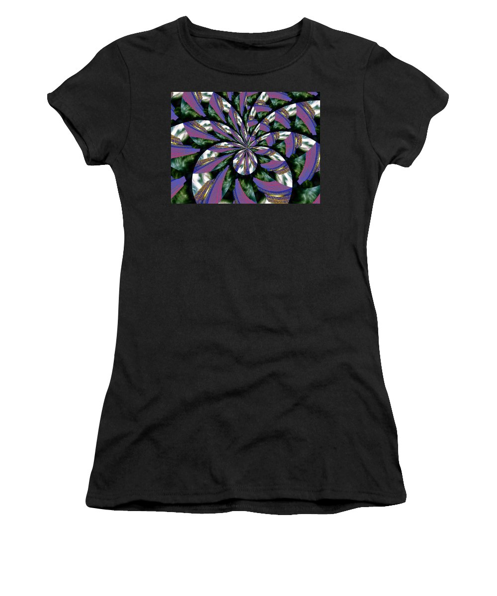 Abstract Women's T-Shirt (Athletic Fit) featuring the digital art Highrise Kaleidoscope by Tim Allen