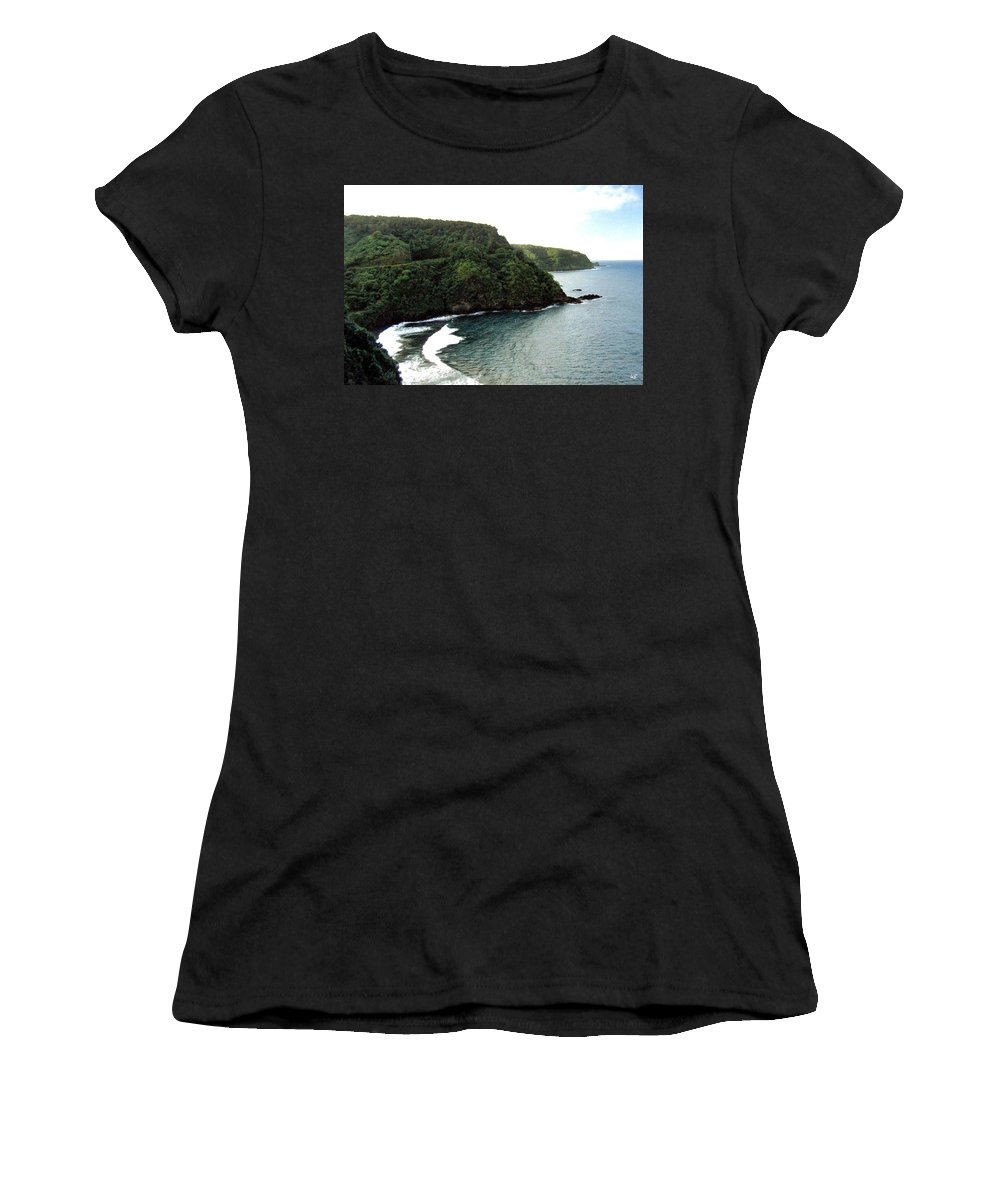 1986 Women's T-Shirt (Athletic Fit) featuring the photograph Highway To Hana by Will Borden