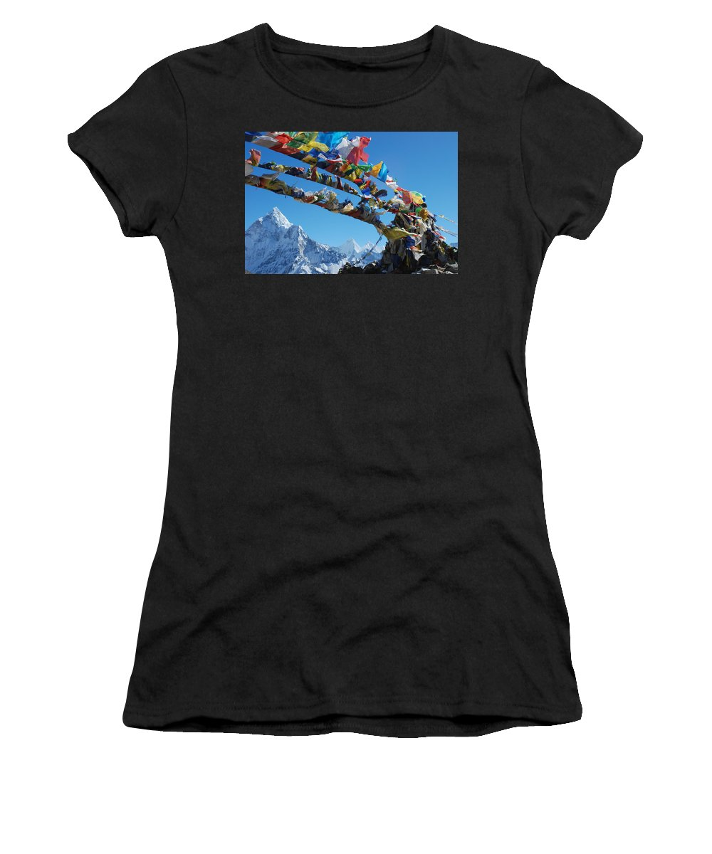 Himalayas Women's T-Shirt (Athletic Fit) featuring the photograph Himalayas In Nepal by Jeremy Jones