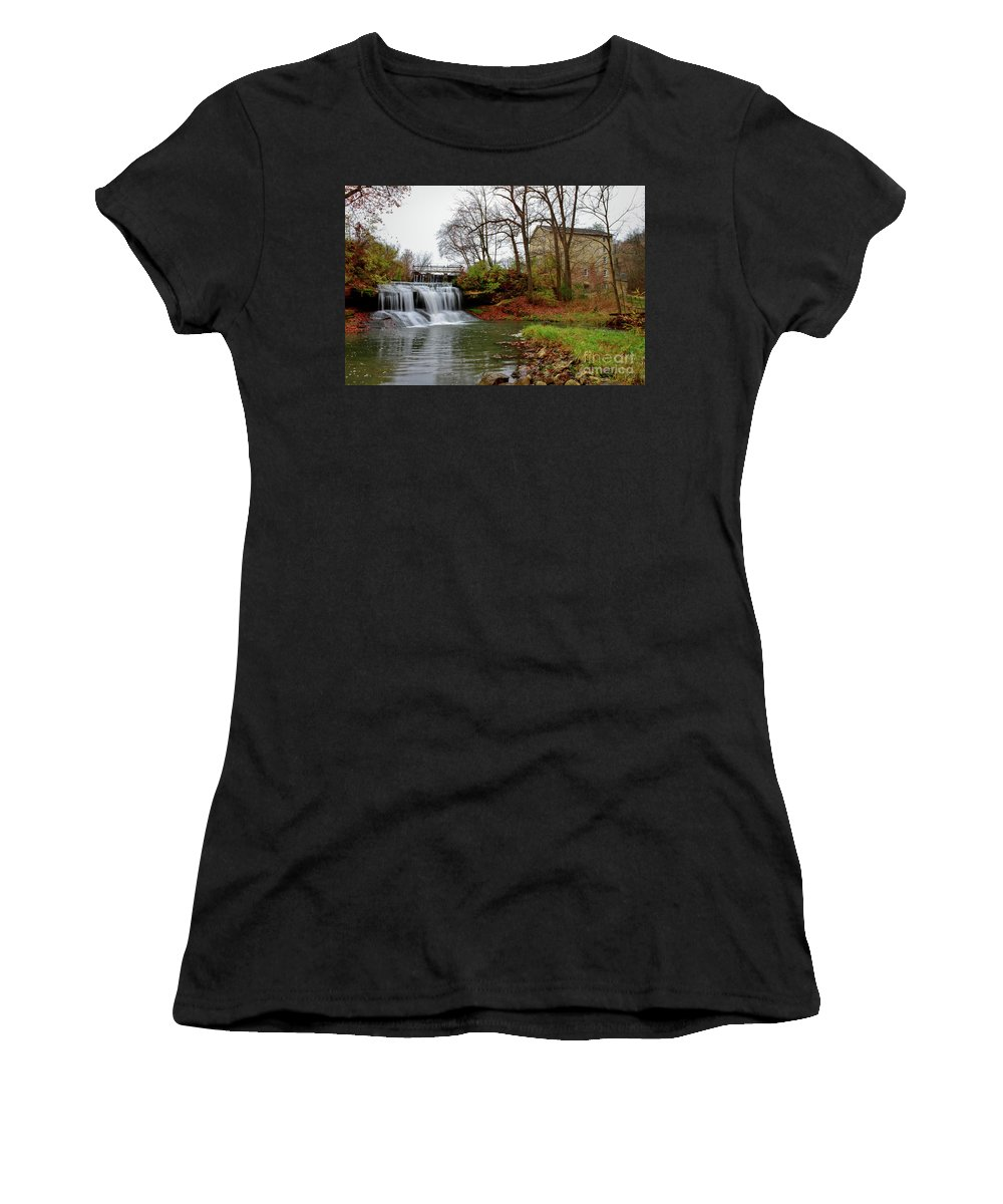 Mill Women's T-Shirt (Athletic Fit) featuring the photograph Historic Mill by Lowell Stevens