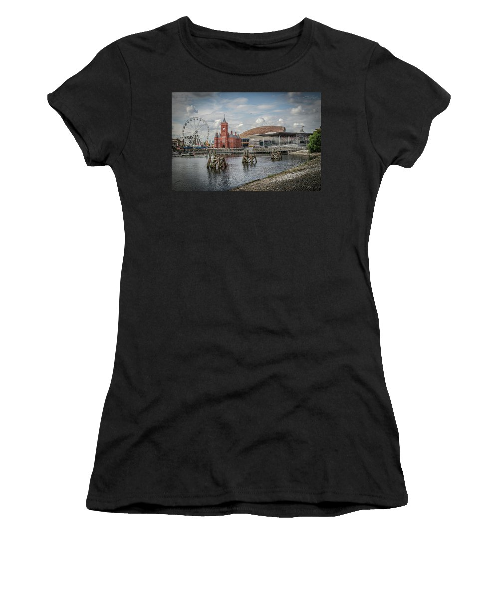 Pierhead Women's T-Shirt (Athletic Fit) featuring the photograph History, Art And Democracy by Dean Baynham