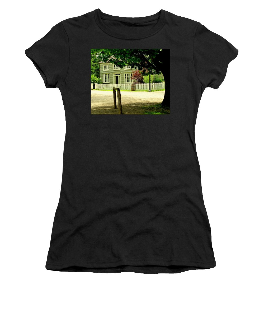 Hitching Post Women's T-Shirt (Athletic Fit) featuring the photograph Hitching Post by Ian MacDonald