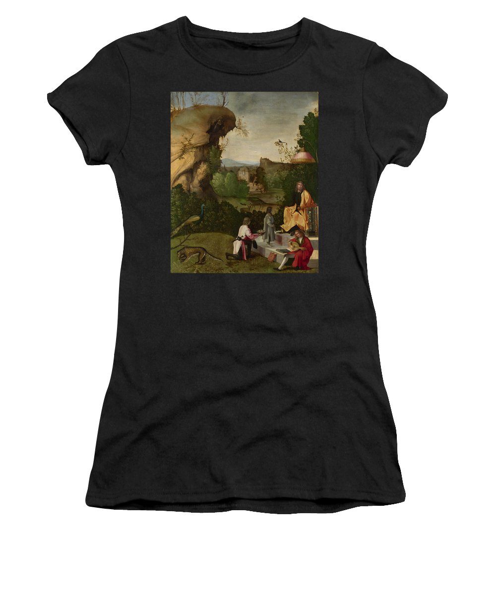 Follower Women's T-Shirt (Athletic Fit) featuring the digital art Homage To A Poet by PixBreak Art