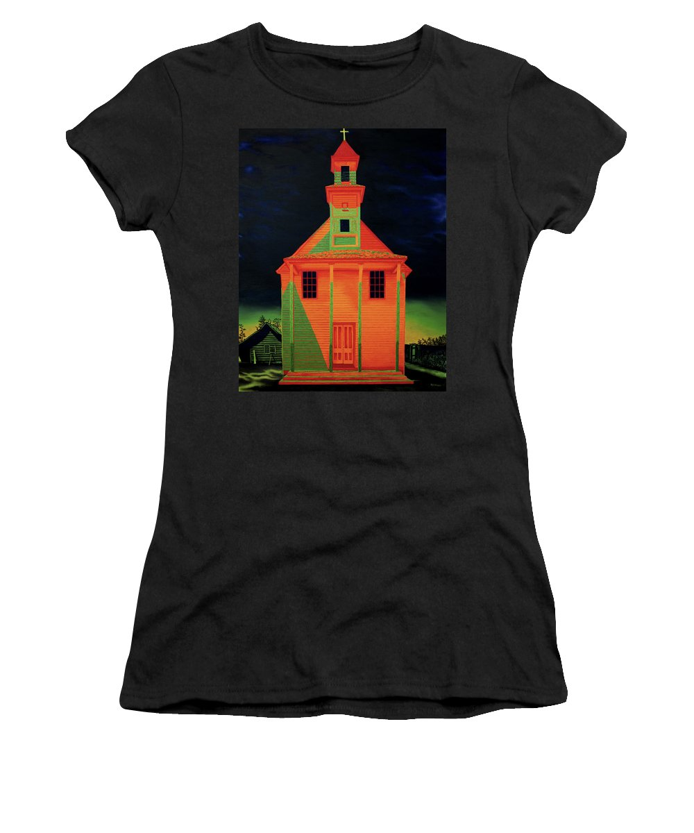 Walker Evans Women's T-Shirt (Athletic Fit) featuring the painting Homage To Walker Evans by Joe Michelli