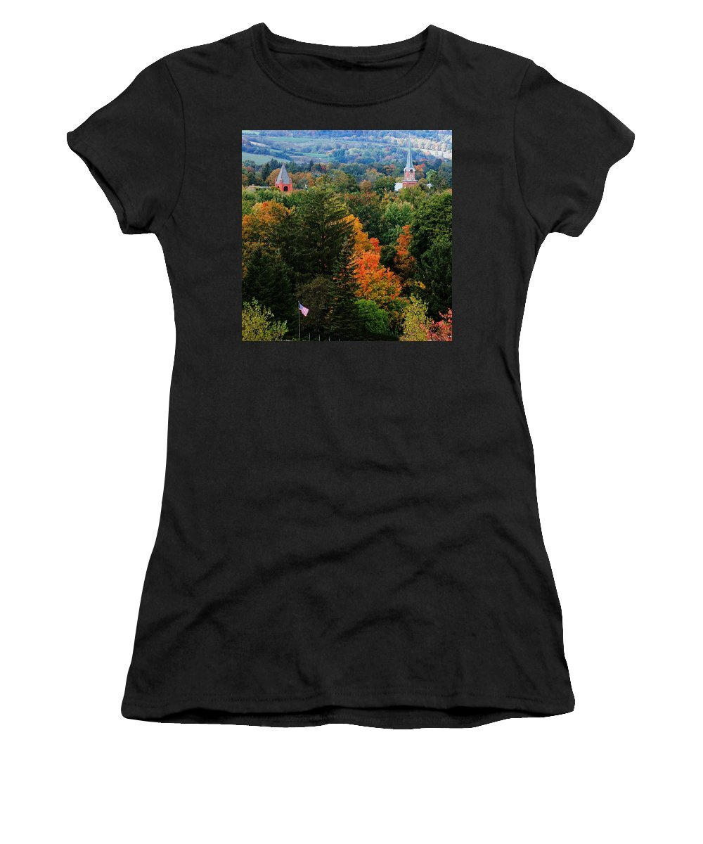Landscape Women's T-Shirt (Athletic Fit) featuring the photograph Homer Ny by David Lane