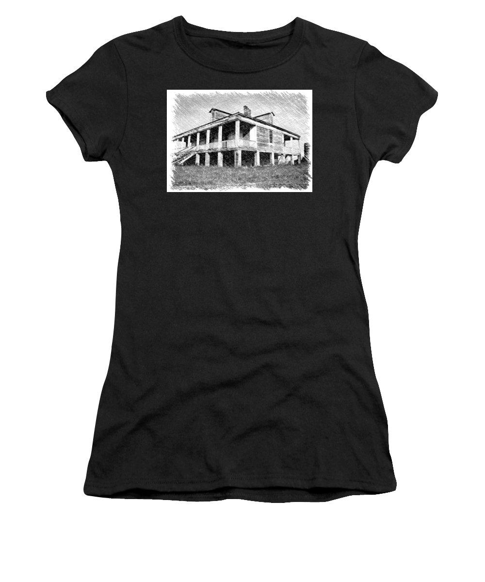 Louisiana Women's T-Shirt featuring the photograph Homestead 1 by Dick Goodman