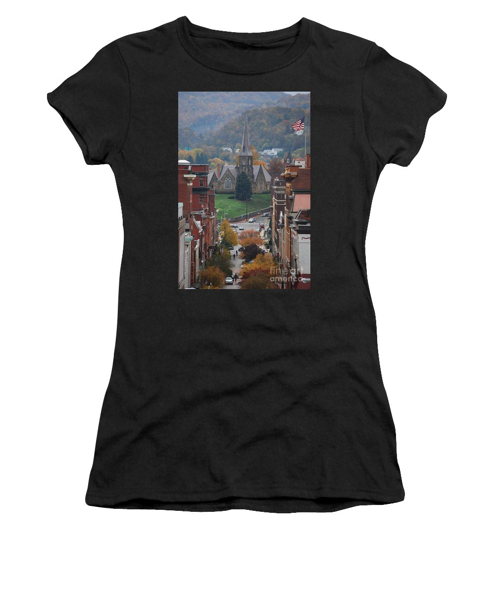 Cumberland Women's T-Shirt (Athletic Fit) featuring the photograph My Hometown Cumberland, Maryland by Eric Liller