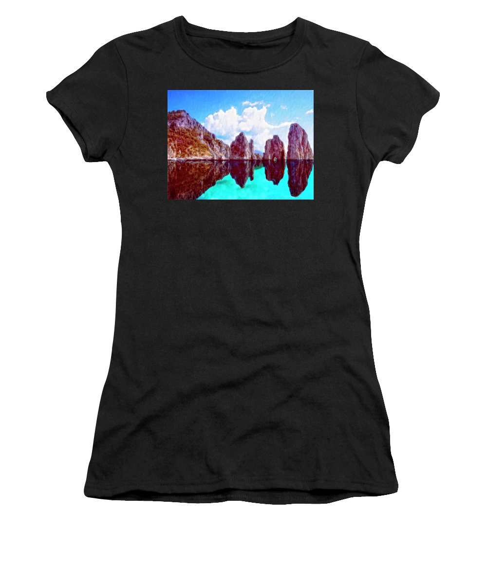 Honah Lee Women's T-Shirt (Athletic Fit) featuring the painting Honah Lee by Dominic Piperata