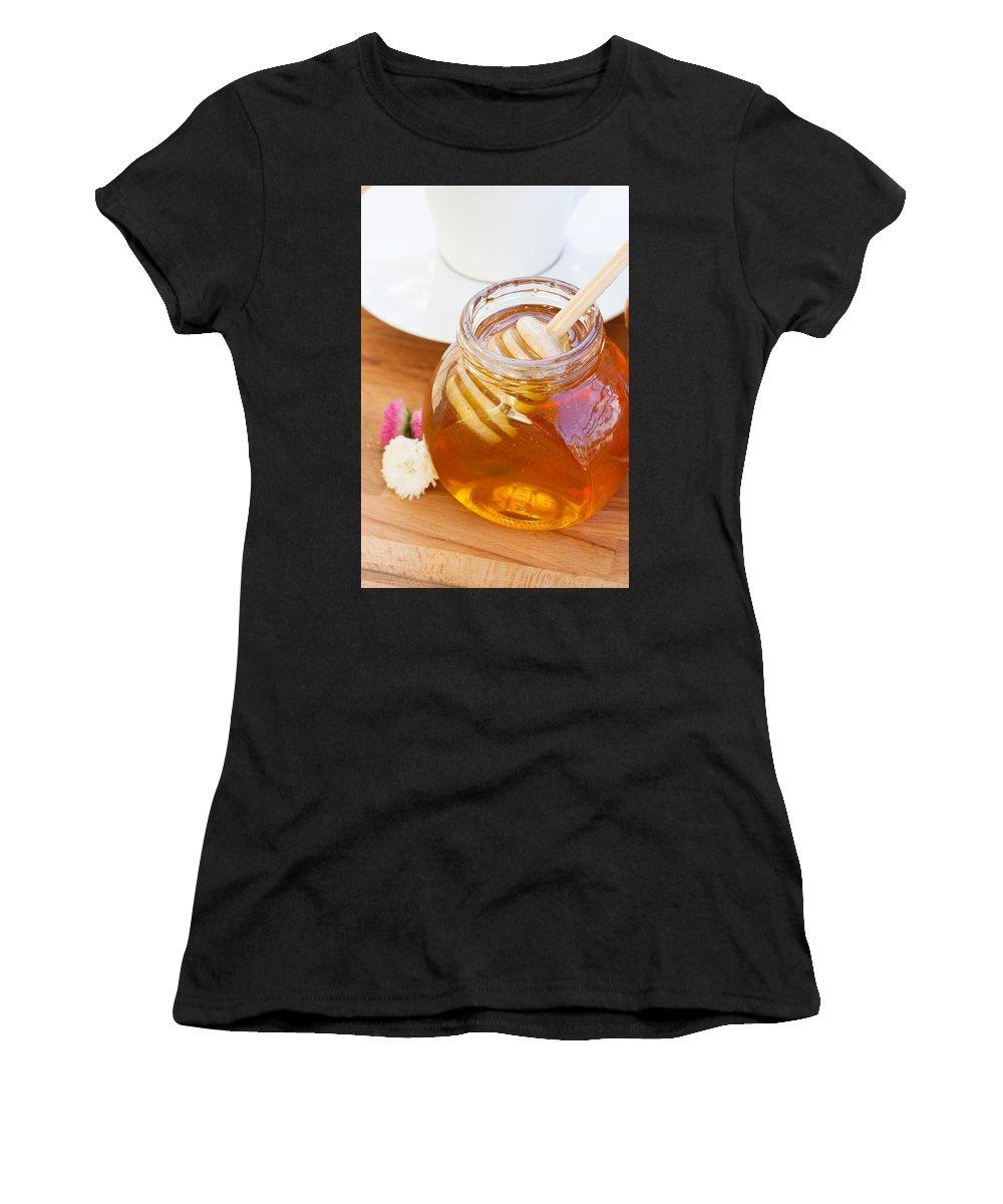 Breakfast Women's T-Shirt featuring the photograph Honey Jar by Anastasy Yarmolovich