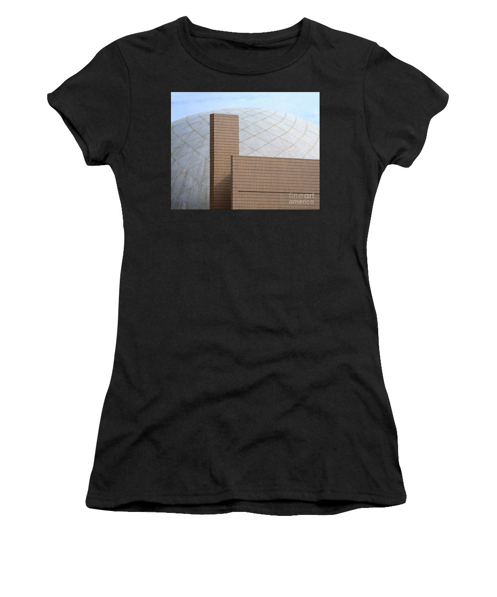 Hong Kong Women's T-Shirt (Athletic Fit) featuring the photograph Hong Kong Architecture 13 by Randall Weidner