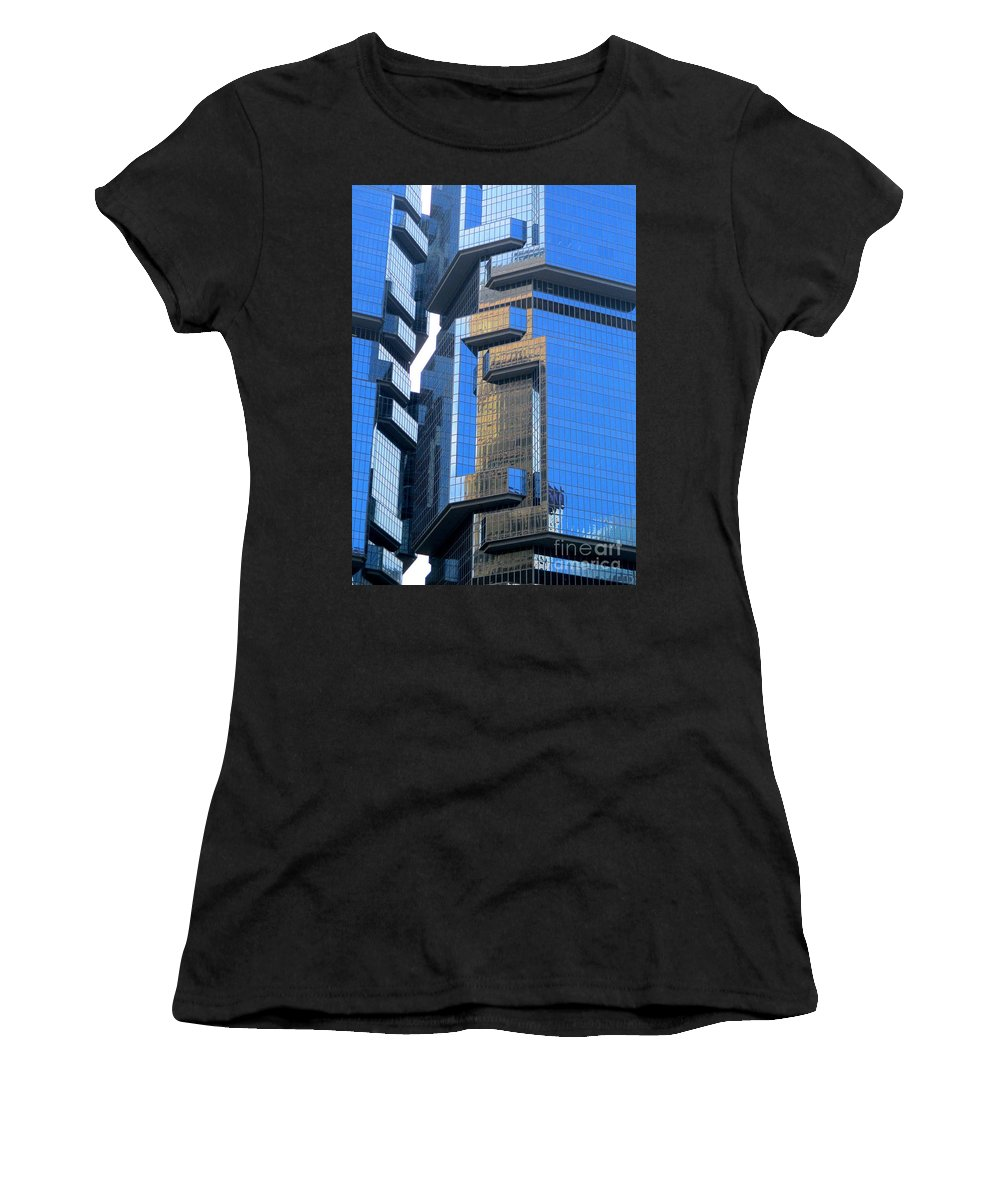 Hong Kong Women's T-Shirt (Athletic Fit) featuring the photograph Hong Kong Architecture 40 by Randall Weidner