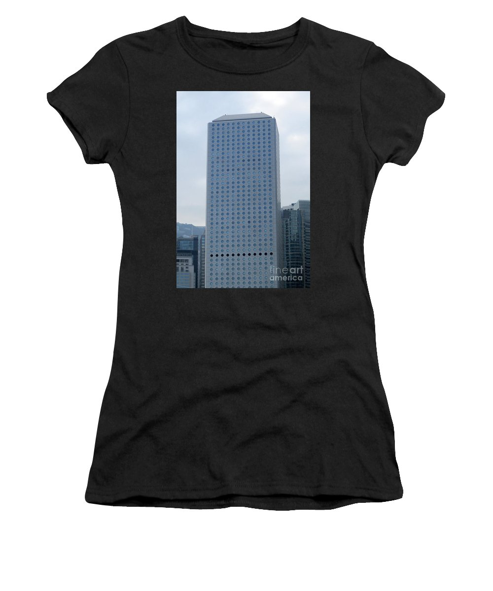 Hong Kong Women's T-Shirt (Athletic Fit) featuring the photograph Hong Kong Architecture 41 by Randall Weidner