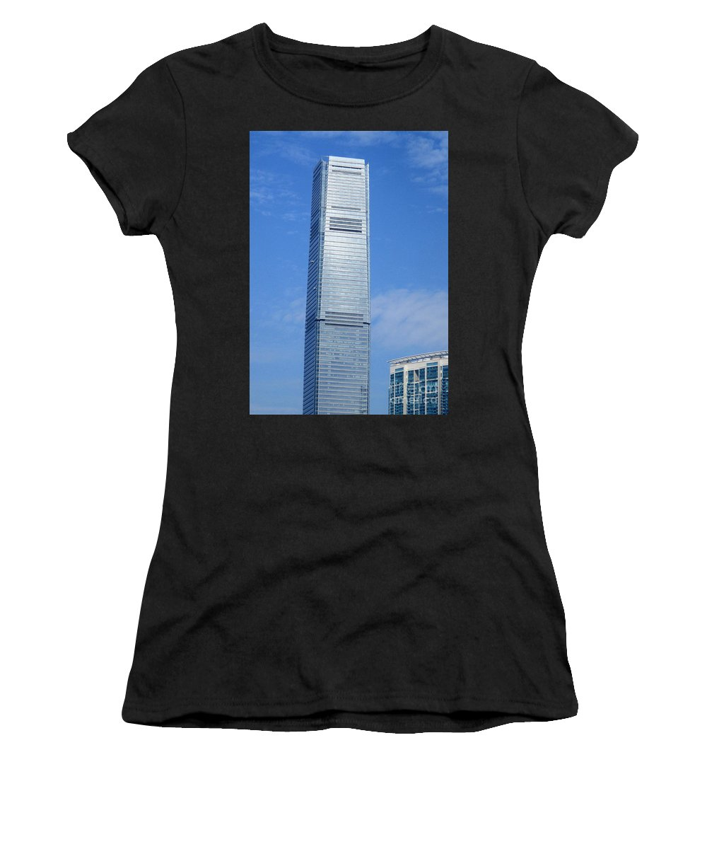 Hong Kong Women's T-Shirt (Athletic Fit) featuring the photograph Hong Kong Architecture 45 by Randall Weidner
