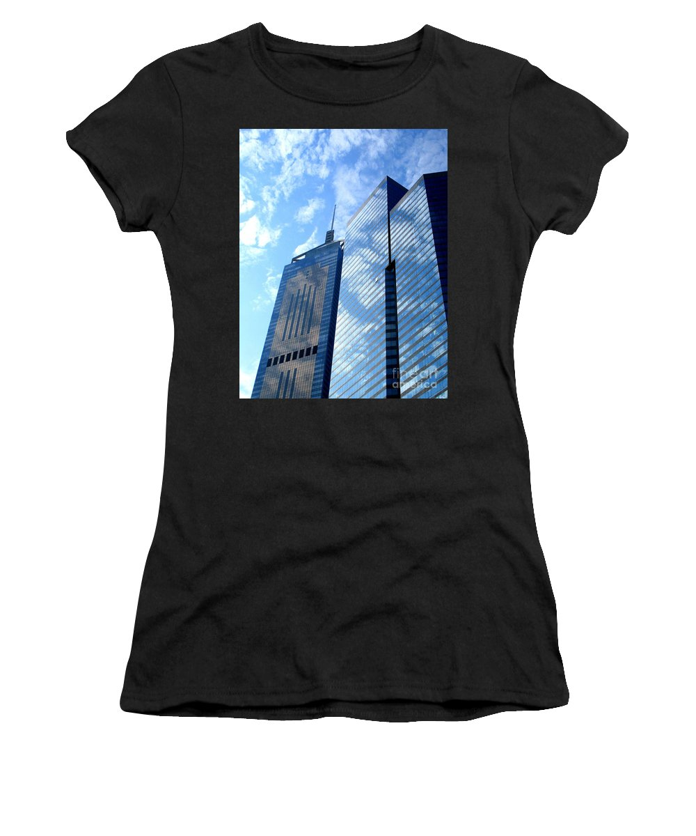 Hong Kong Women's T-Shirt (Athletic Fit) featuring the photograph Hong Kong Architecture 58 by Randall Weidner