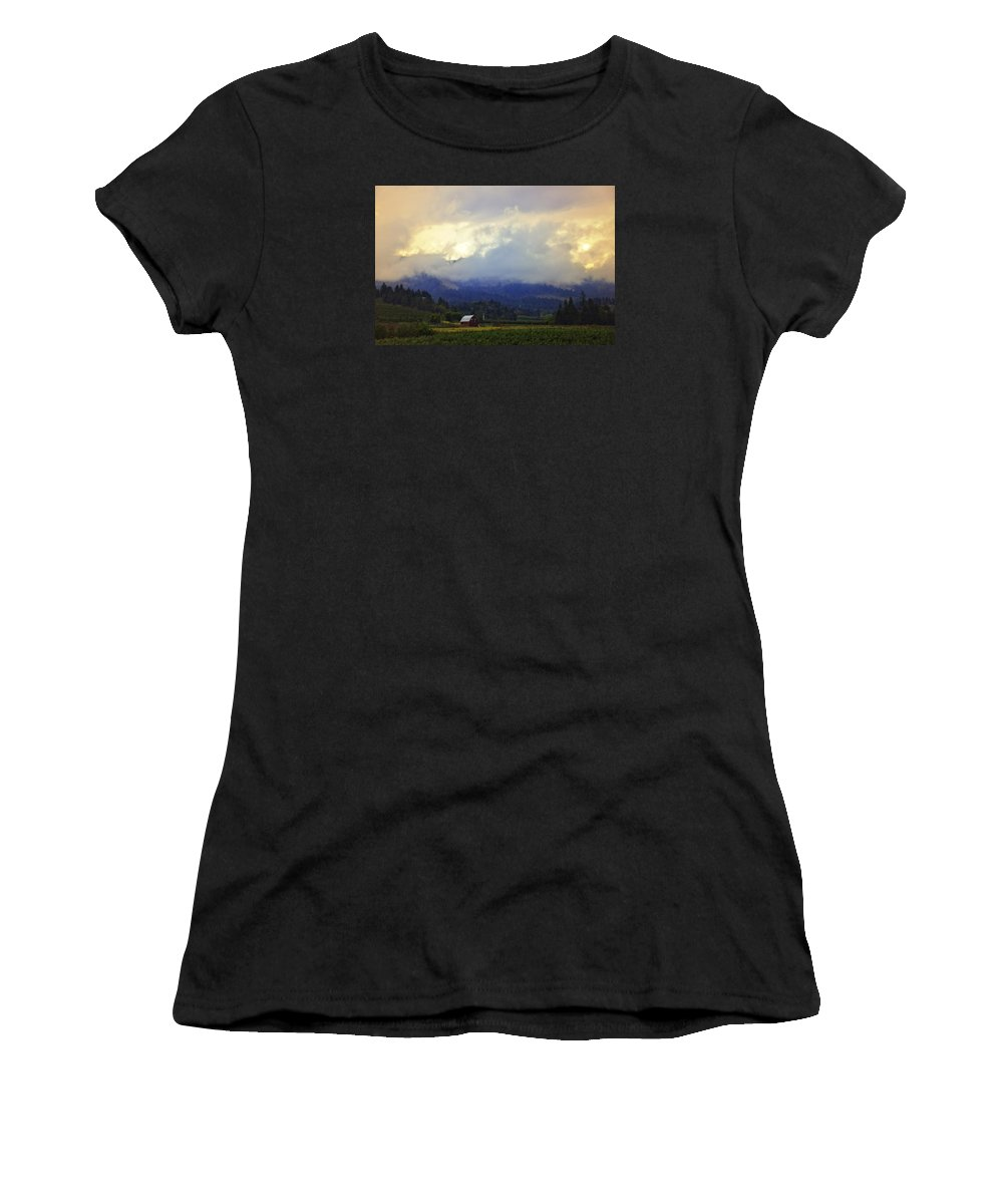 Hood River Women's T-Shirt (Athletic Fit) featuring the photograph Hood River - Season Of Beauty by Image Takers Photography LLC - Carol Haddon