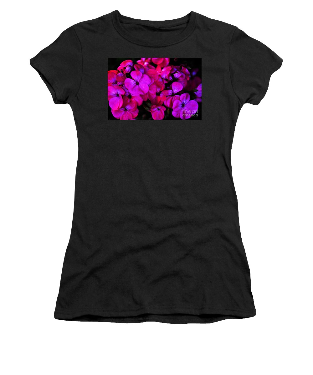 Clay Women's T-Shirt (Athletic Fit) featuring the photograph Hot Pink Florals by Clayton Bruster