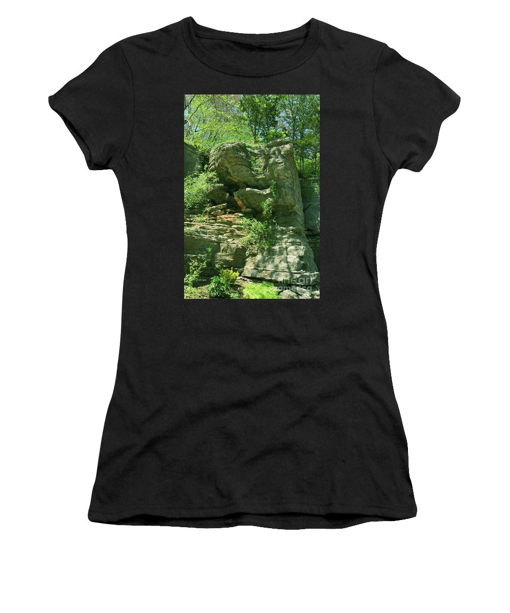Hot Women's T-Shirt (Athletic Fit) featuring the photograph Hot Springs by Kathleen Struckle
