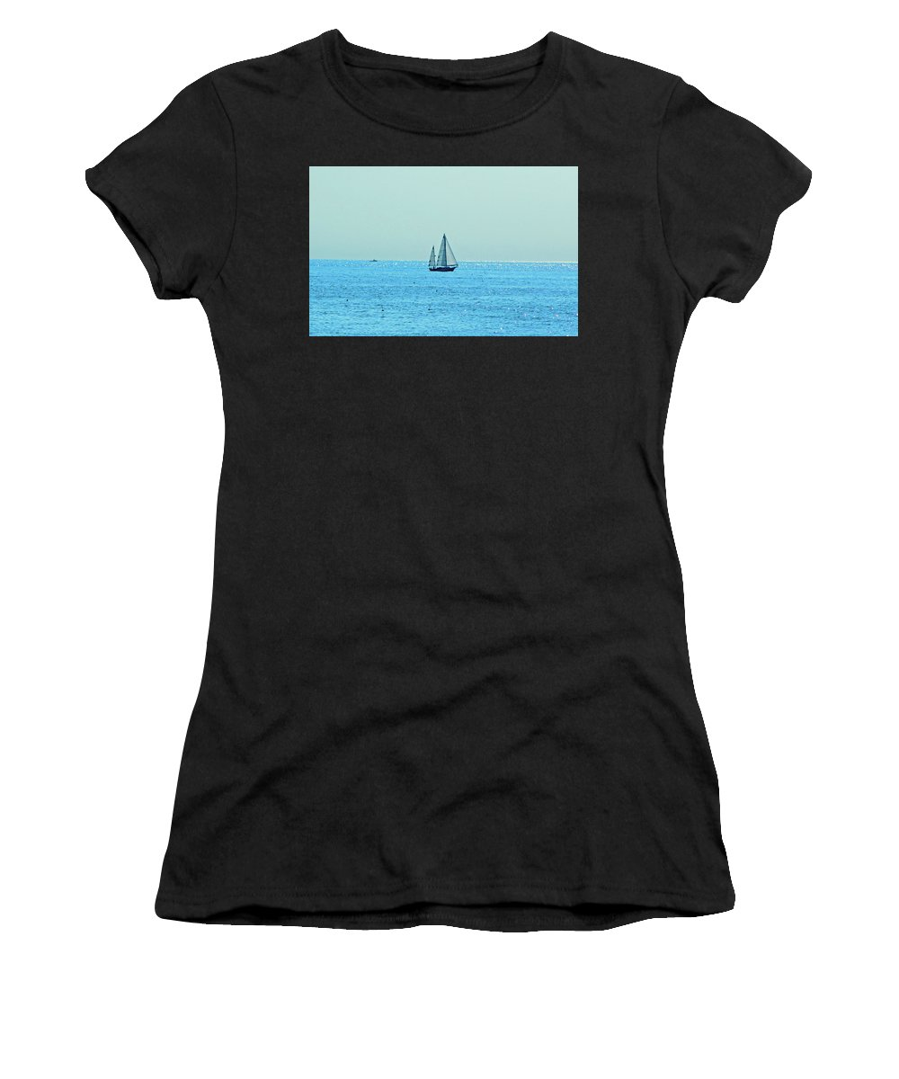 Women's T-Shirt (Athletic Fit) featuring the photograph Hot Summer Day In New England by Kenneth Bourassa