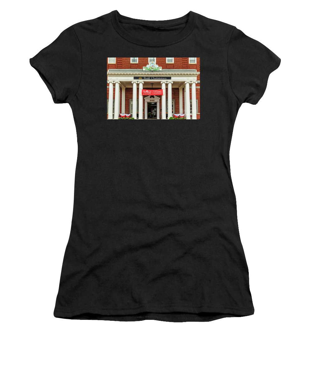 Hotel_in_charlottetown Women's T-Shirt (Athletic Fit) featuring the photograph Hotel In Charlottetown by Csaba Demzse