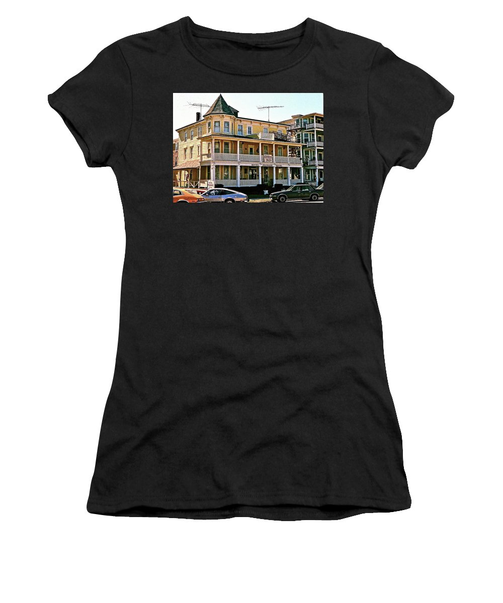 Ocean Grove Women's T-Shirt featuring the photograph Hotel Polonaise by Ira Shander