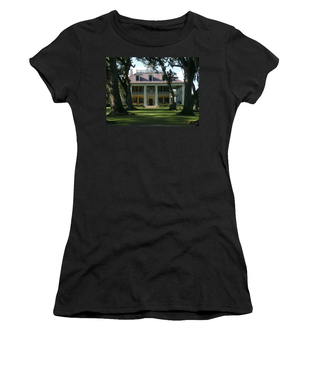 Houmas Women's T-Shirt (Athletic Fit) featuring the photograph Houmas House Plantation by Nelson Strong