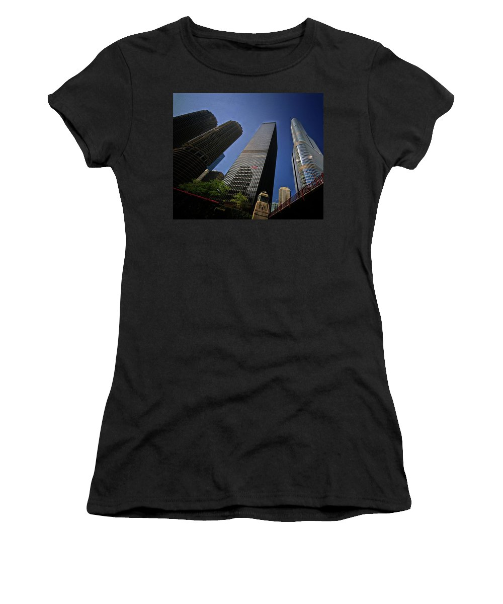 Trump Tower~chicago Women's T-Shirt (Athletic Fit) featuring the photograph House That Potus Built by Robert McCubbin