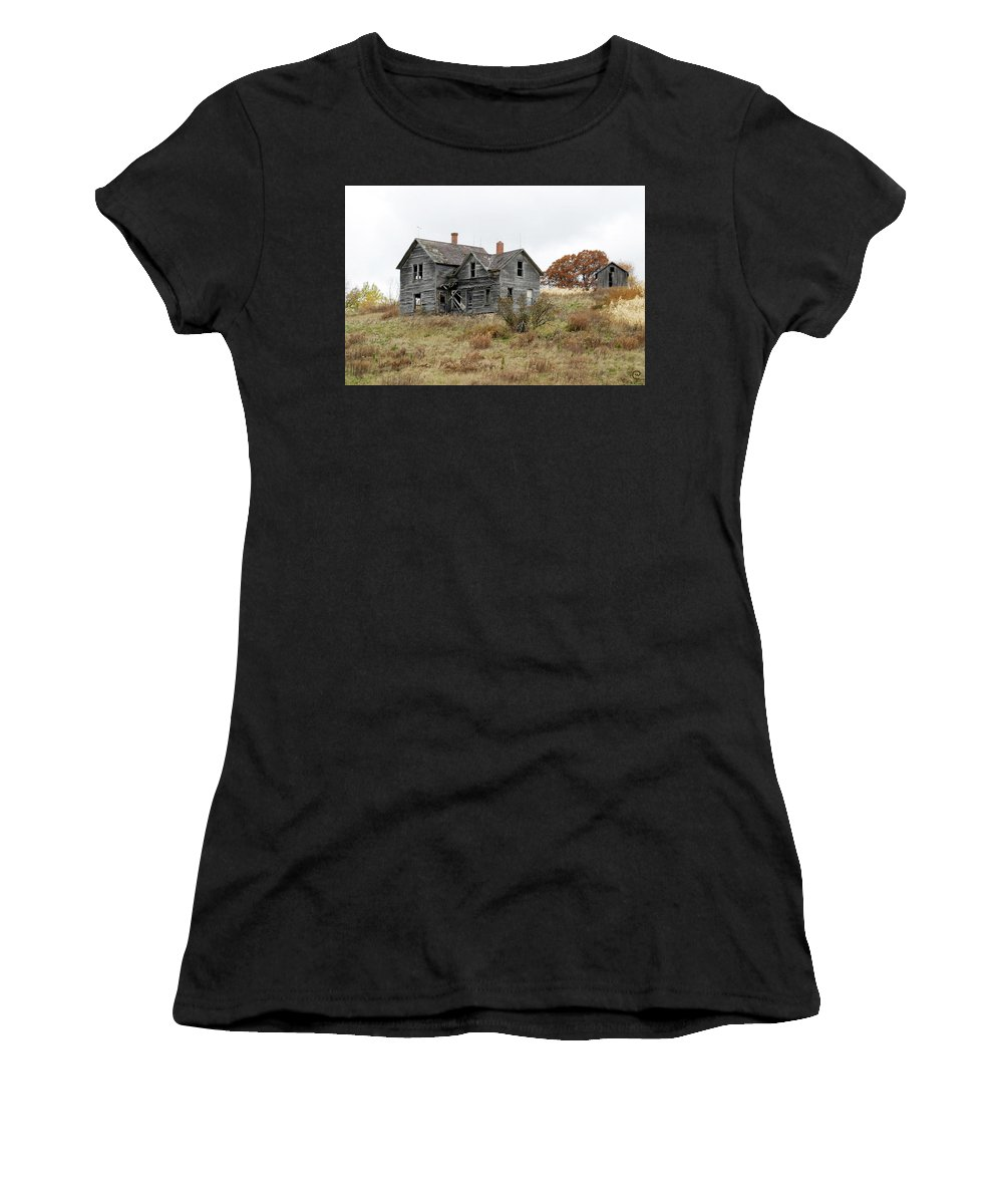 Old Farms Women's T-Shirt (Athletic Fit) featuring the photograph House With A View by Bjorn Sjogren