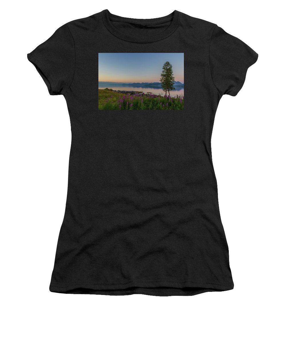Tree Women's T-Shirt (Athletic Fit) featuring the photograph Hugging Trees by Nils Nilsen Logje
