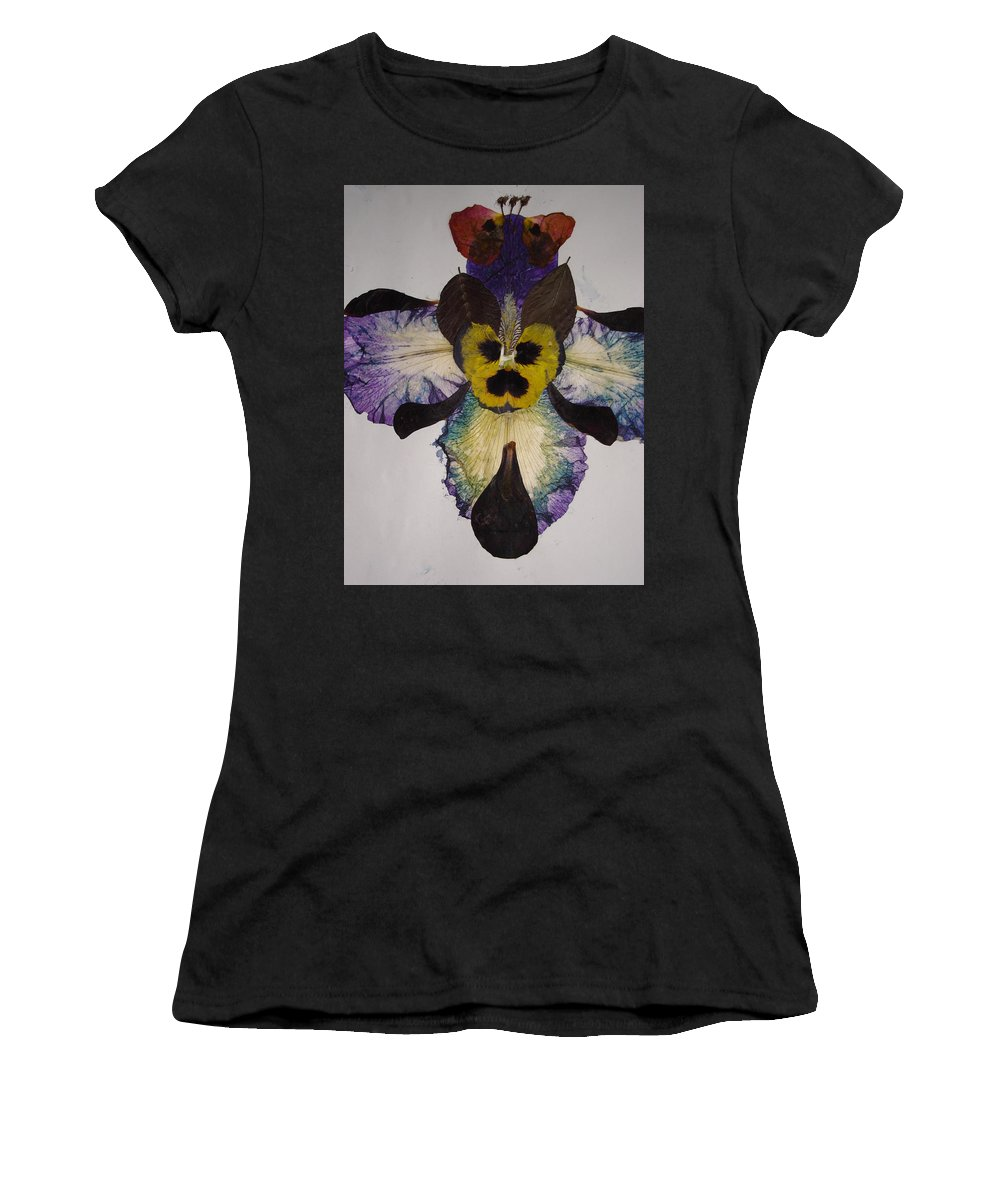Flower-vision Women's T-Shirt (Athletic Fit) featuring the mixed media Human Insect by Basant Soni