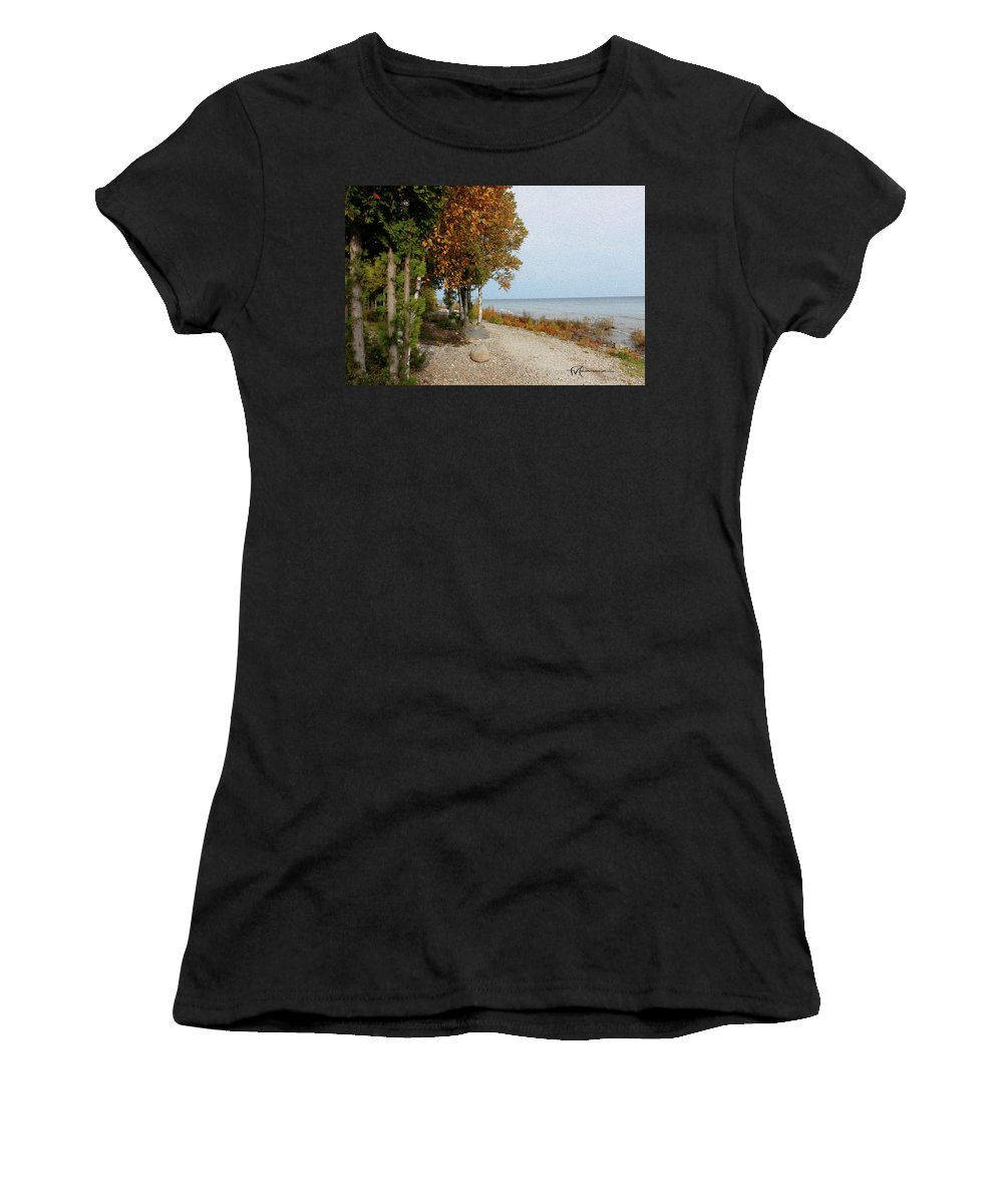 Outdoor Images Women's T-Shirt (Athletic Fit) featuring the photograph Huron Heaven by Felipe Gomez