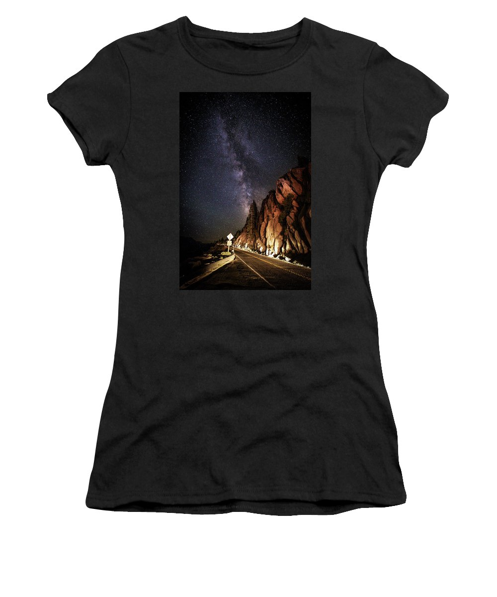 Lake Tahoe Women's T-Shirt featuring the photograph Hwy 50 by Mario Mariscal