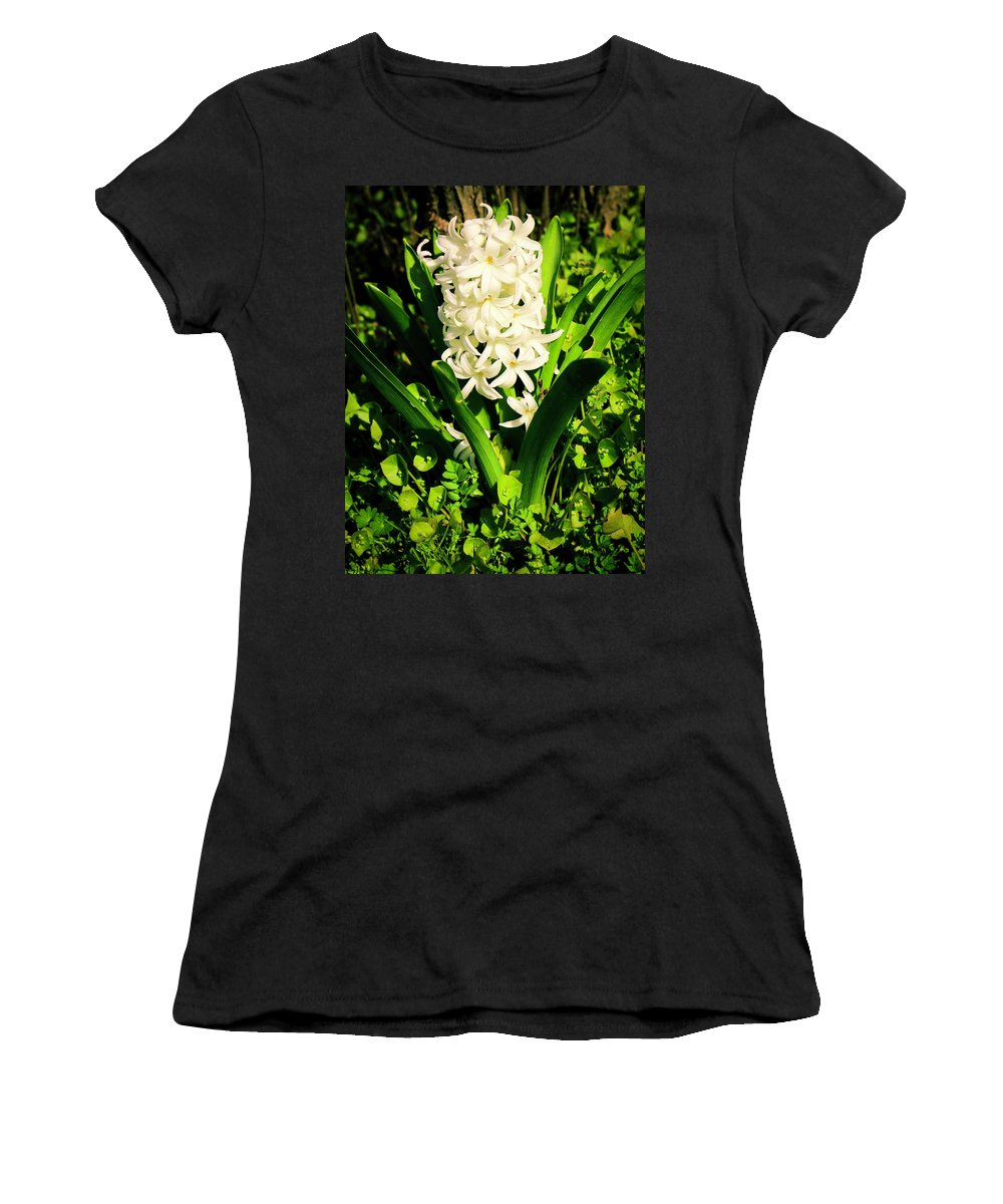 Hyacinth Women's T-Shirt (Athletic Fit) featuring the photograph Hyacinth by Janine Moore