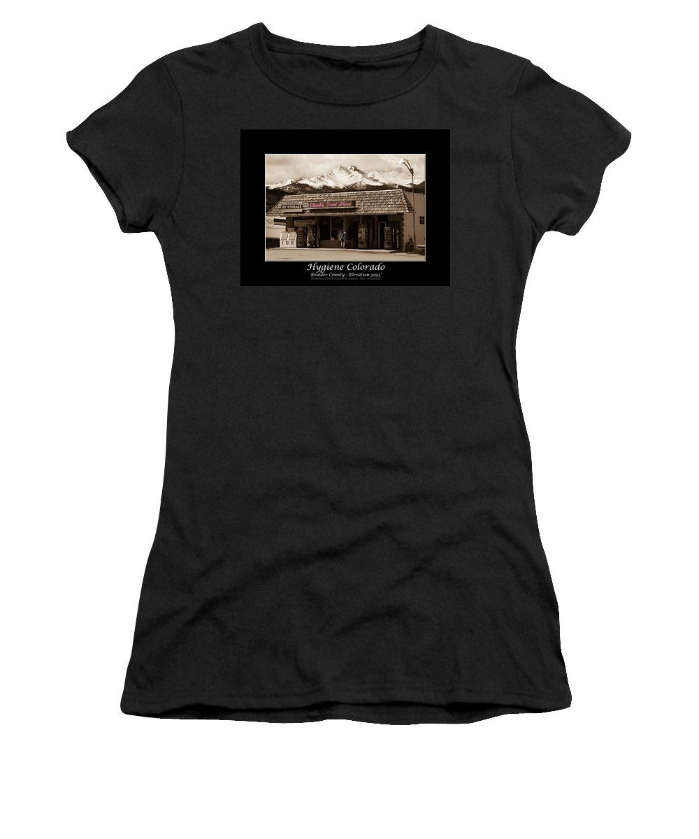 Hygiene Women's T-Shirt (Athletic Fit) featuring the photograph Hygiene Colorado Bw Fine Art Photography Print by James BO Insogna