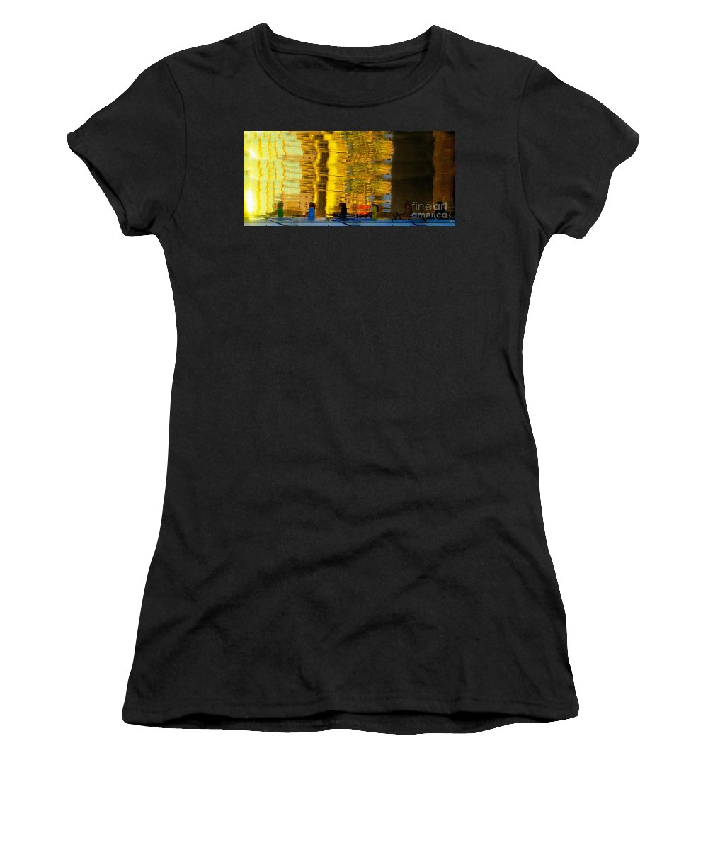 Dream Like Women's T-Shirt (Athletic Fit) featuring the painting I Dreamed Of Six Woman Rowing by David Lee Thompson