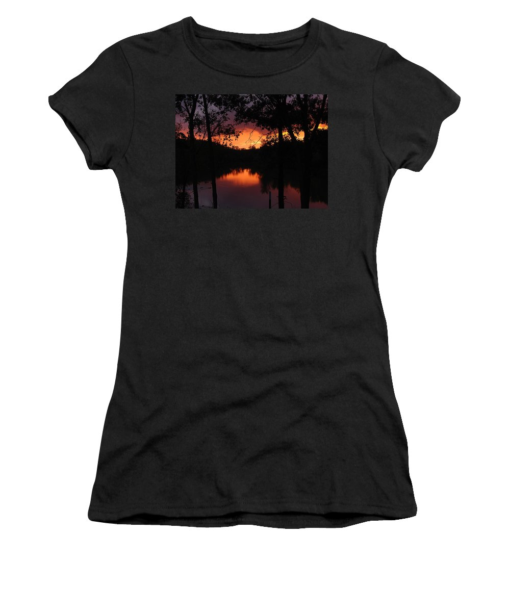 Sunset Women's T-Shirt (Athletic Fit) featuring the photograph I Found Red October by J R Seymour
