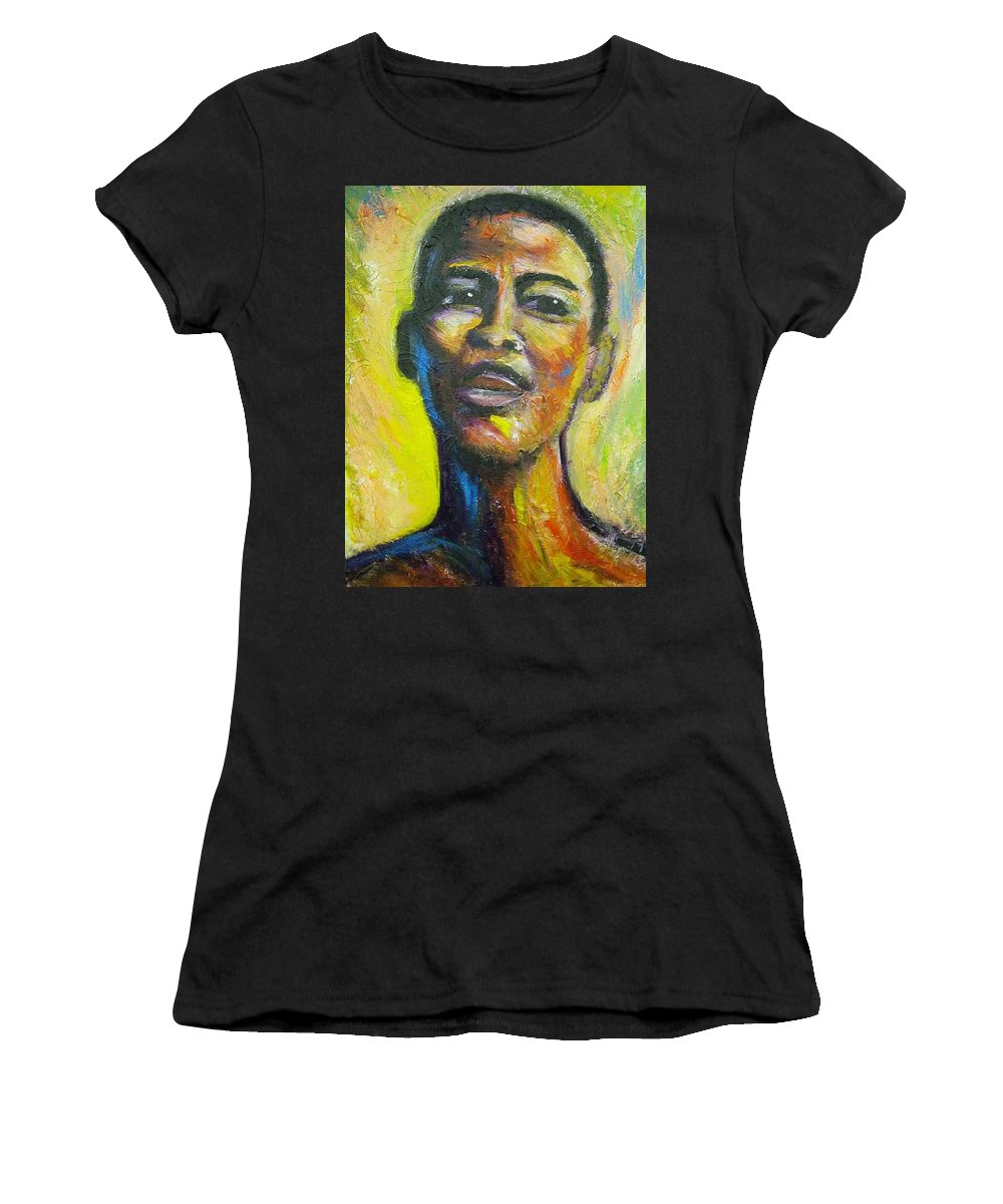 Intensity Women's T-Shirt (Athletic Fit) featuring the painting I by Jan Gilmore