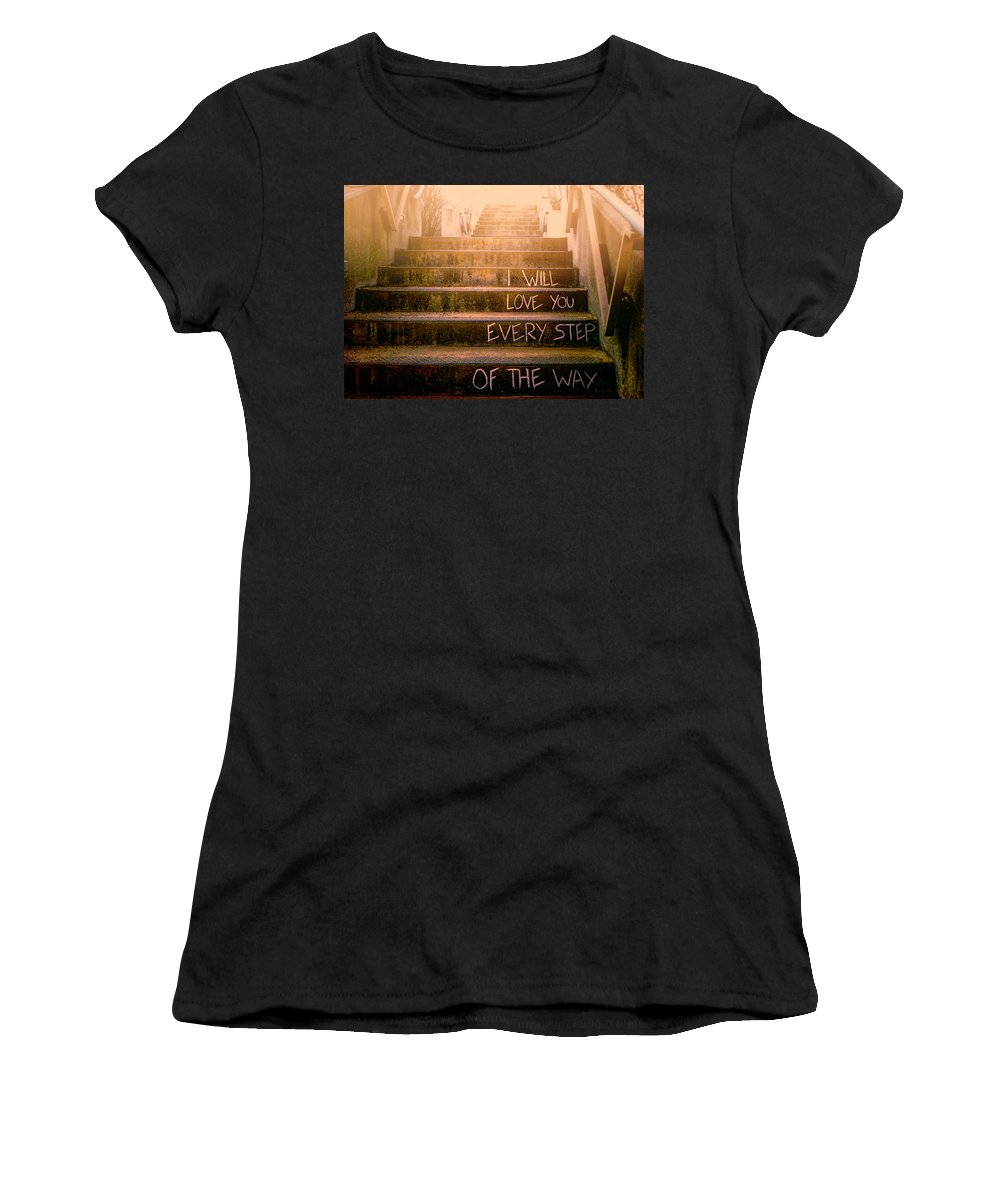 Love Women's T-Shirt (Athletic Fit) featuring the photograph I Will Love You 2 by Bob Orsillo