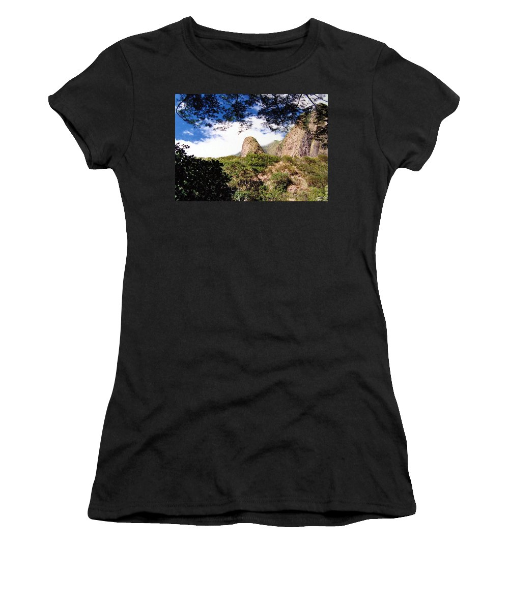 1986 Women's T-Shirt (Athletic Fit) featuring the photograph Iao Valley by Will Borden