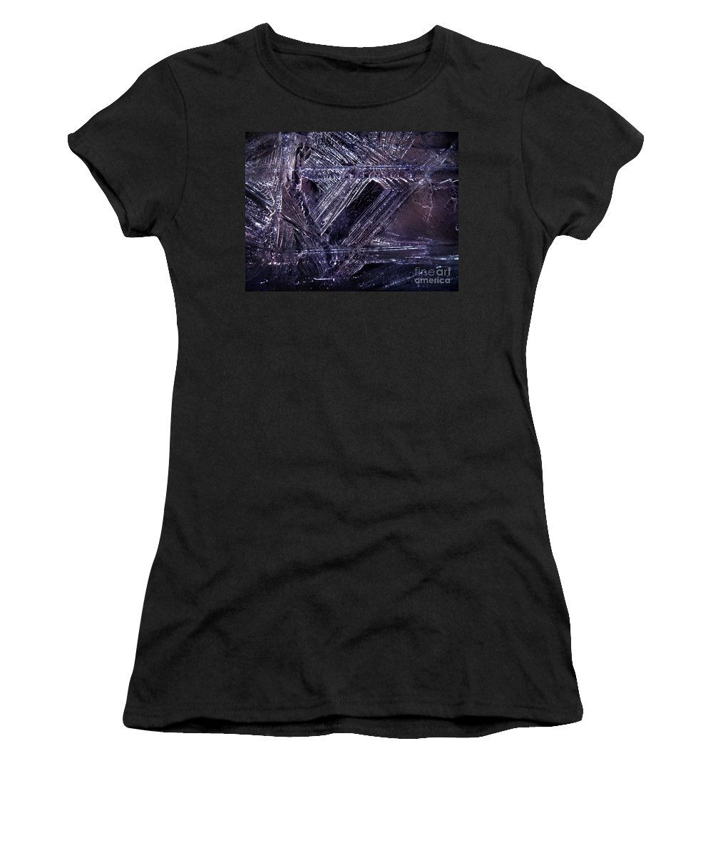 Ice Women's T-Shirt (Athletic Fit) featuring the photograph Ice-cold Gothic Night by Sofia Metal Queen