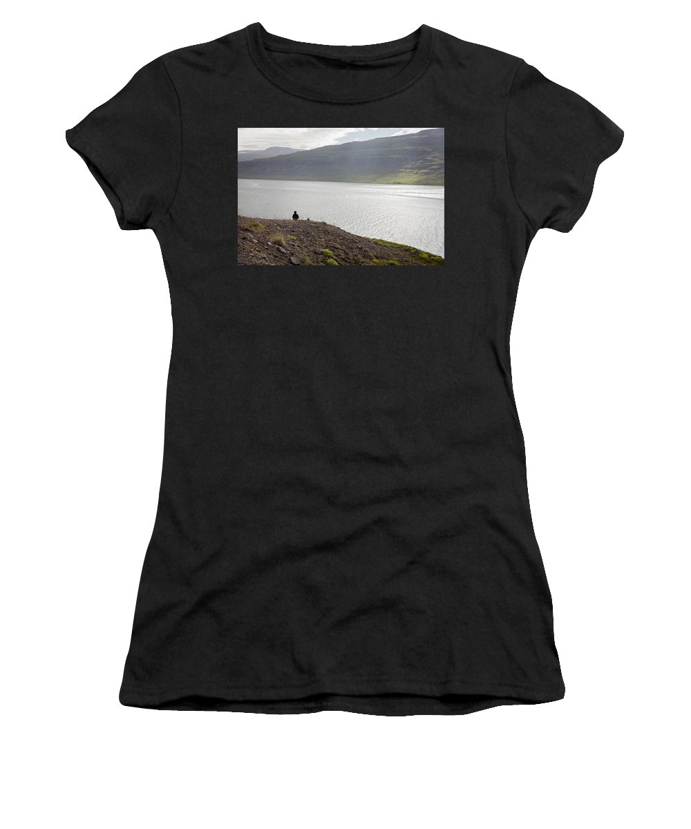 Iceland Women's T-Shirt (Athletic Fit) featuring the photograph Iceland 12 by Valeriy Shvetsov