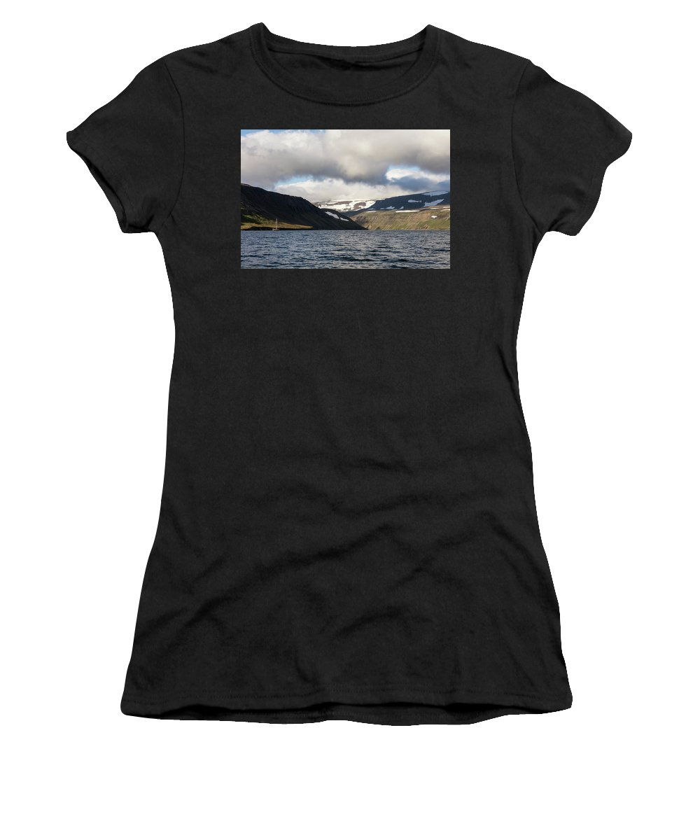 Iceland Women's T-Shirt (Athletic Fit) featuring the photograph Iceland 19 by Valeriy Shvetsov