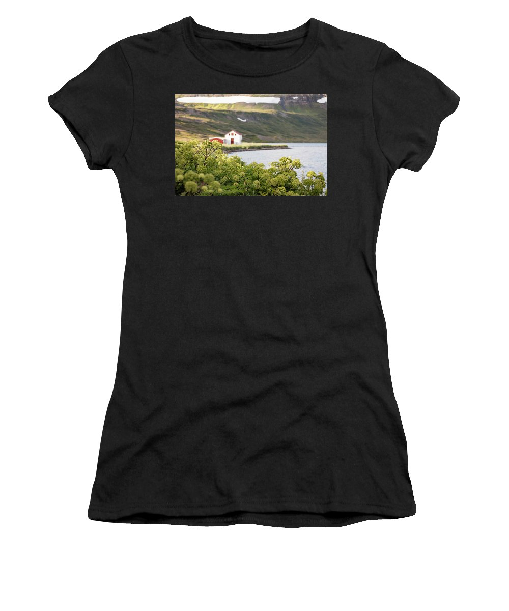 Beach House Women's T-Shirt (Athletic Fit) featuring the photograph Iceland 20 by Valeriy Shvetsov