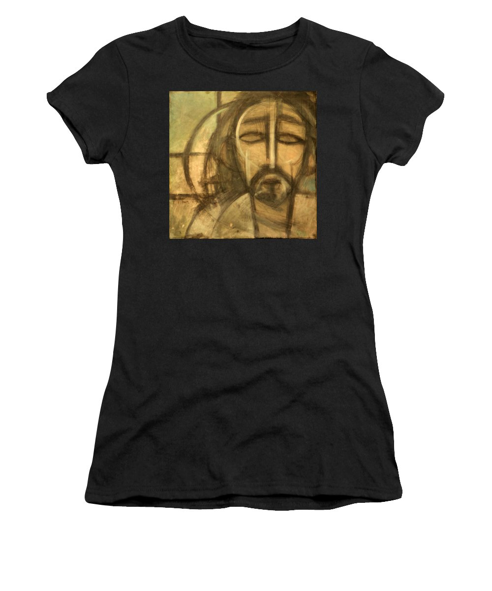 Christ Women's T-Shirt (Athletic Fit) featuring the painting Icon Number 6 by Tim Nyberg