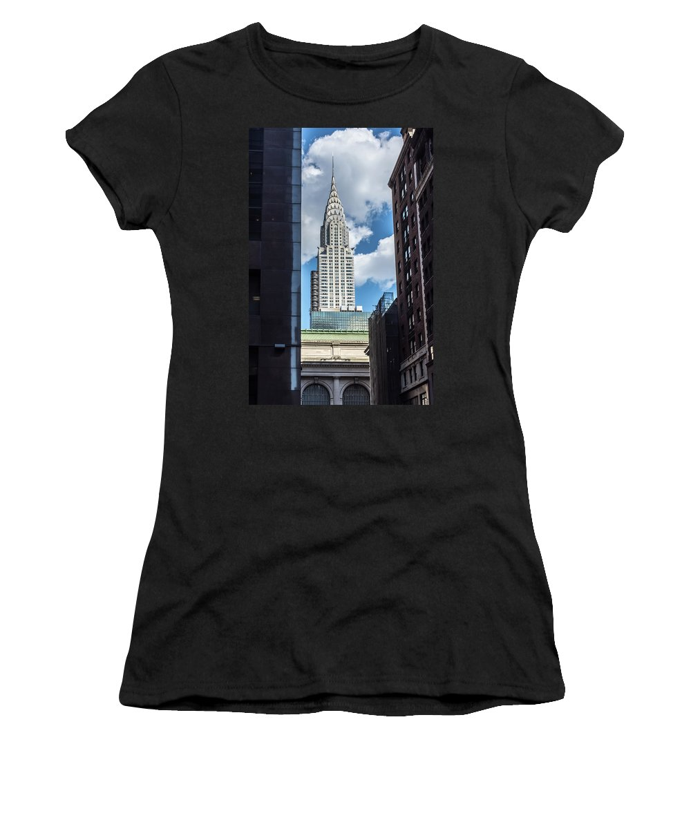 Chrysler Building Women's T-Shirt featuring the photograph Iconic New York by Andrew Kazmierski
